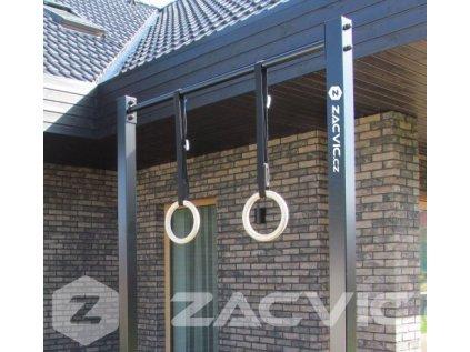 gymnastiké kruhy na zavěšení dřevěné